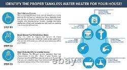 MAREY Electric Tankless Hot Water Heater 3 GPM Whole House ECO110, 220 VOLTS