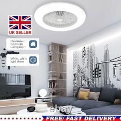 Modern Ceiling Fan with Lighting LED Light Adjustable Wind Speed Remote Control