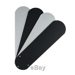 Modern Remote Control Brushed Chrome Black Ceiling Fan with Spot Light Lights