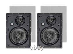 Monoprice 3-Way Carbon Fiber In Wall Speakers 8 Inch (Pair) With Magnetic Grille