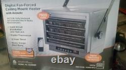 NEW Comfort Zone Heater with Remote Ceiling Mount 7500W 25000 BTU Garage Shed Shop