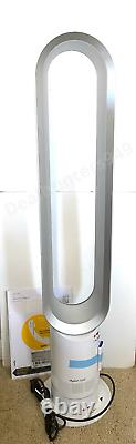 NEW! Dyson Cool AM07 Air Multiplier Tower Bladeless Fan White/Silver with Remote