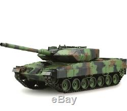 NEW HUGE 2.4ghz Heng Long Radio Remote Control RC Tank NATO Leopard 2A6 SMOKE