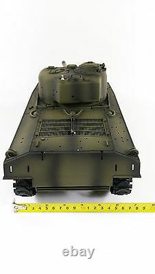 NEW UK Radio Remote Control RC Tank 2.4G British Sherman M4A3 1/16 with 2 Sounds