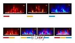New 2020 Led 7 Colour Flame Effect Truflame Curved Wall Mounted Electric Fire