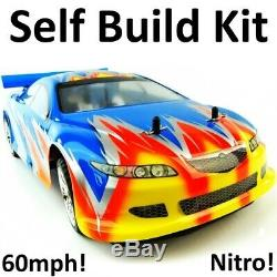 Nitro RC Car Kit Remote Control Syclone Self Build Petrol Drift Race Rally 1/10