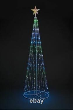 Outdoor Christmas Cone Tree Colour Change RGB LED Remote Control 5ft 6ft 7ft 8ft