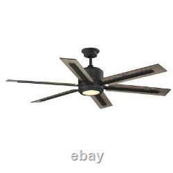 Palermo Grove 60'' Int. LED I Gilded Iron 2-Mount Ceiling Fan withLight & Remote C