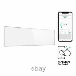Panel Heater Infrared Space Wall Mountable Room 30x100cm 300 W Wifi Timer White