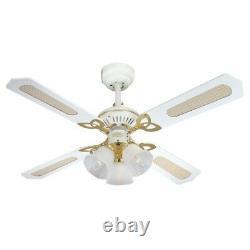 Princess Trio 42 Westinghouse Ceiling Fan White