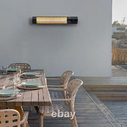 Pro Breeze 2KW Halogen Infrared Patio Heater Wall Mounted with Remote Control