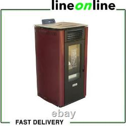 Qlima Fiorina 74 S-LINE Red Slim Pellet stove 8.24 kW