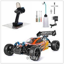 RC Car 110 Scale 4wd Two Speed Off Road Nitro Gas Power Remote Control Car Toys