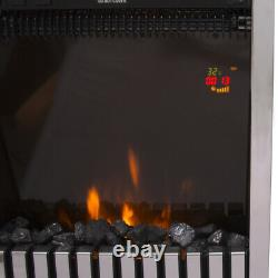Remote Control Electric Fire Fireplace 2KW LED Fire Place Heater Inset Stove