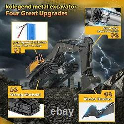 Remote Control Excavator Toy 1/14 Scale RC Excavator, 22 Channel Upgrade Full Fu