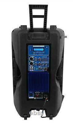 Rockville RPG15BT 15 Powered 1000W DJ PA Speaker BlueTooth, Wireless Link+Stand