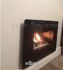 Royal 6 Hole in the Wall Gas Fire 3.5kw Glass Frame Including 5 Year Warranty