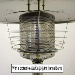 Table Top Gas Patio Heater Portable Outdoor Steel Garden Heater