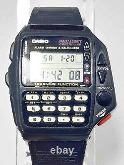 Vintg Casio 1174 Cmd-40 Tv Watch Wrist Remote Controller Calculator Alarm Chrono