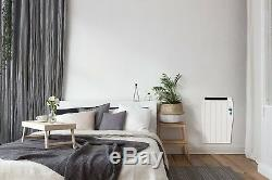 Wall Mounted Electric Panel Heater Radiator 600W Convector With Timer Aluminium