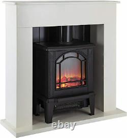 Warmlite WL45037W Ealing Electric Fireplace Suite, White