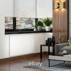 White Infrared Heating Panel Electric Heater Radiator Wall Mount 580W And Remote