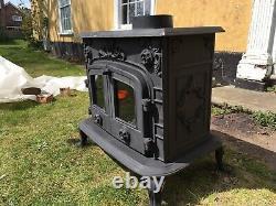 Wood Burning MultiFuel Stove Black 12KW Fireplace